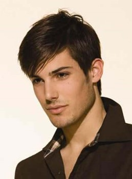 Handsome Men's Hairstyle Short Straight Meidum Brown Monofilament Top Wig 100% Human Remy Hair