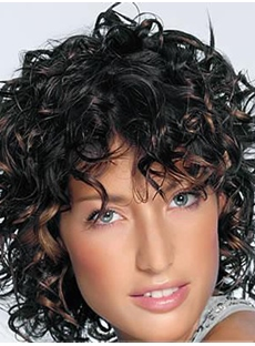 New Arrival African American Popular Hairstyle Medium Curly Mixed Color 10 Inches Perfect Wig