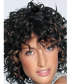 African American Medium Curly 10 Inches Capless Synthetic Wigs