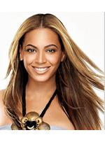 Sexy Beyonce's100% Remy Human Hair Long Straight Brown Celebrity Lace Wig 18 Inches
