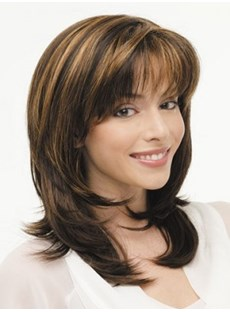 Graceful Treasure Medium Layered 14 Inches Blonde Synthetic Wig
