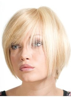 Super Sweet Straight Light Blonde Wig 8 Inches