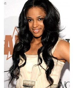 Ciara Long Wavy 24 Inches 100% Indian Remy Lace Front Wigs