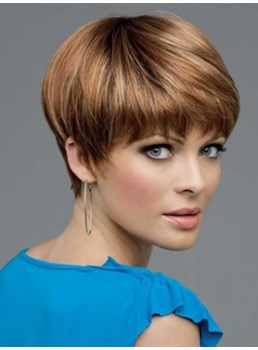 Modern Light Auburn Short Straight Graceful Synthetic Wigs