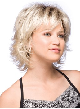 Glamorous Short Wavy Capless Synthetic Wig
