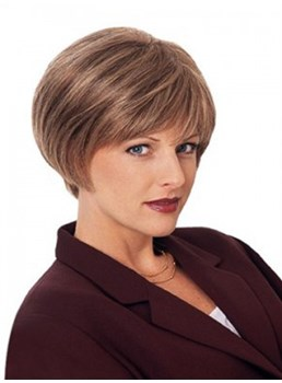 Popular Soft Natural Elegant Hairstyle Short Length Petite Size Hot Sale Synthetic Wig
