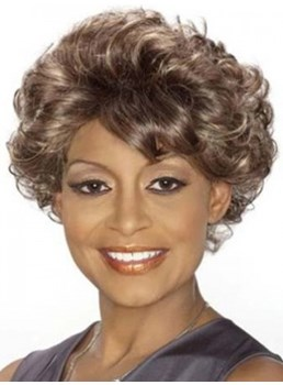 Beatrice Short Length Capless Wavy Wig for Older Women