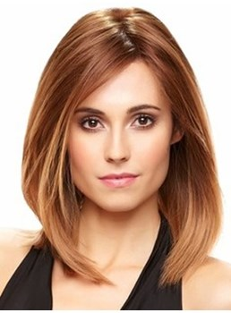 The Graceful Hairstyle Medium Straight Lace Front Bob Style Wig 14 Inches