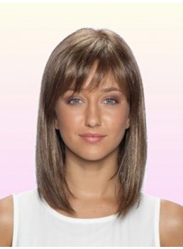 The Oriental Bob Style Medium Medium Brown Wig