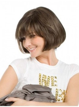 The Hairstyle of Tempo Hand-Tied Bob Style Synthetic Capless Wig 8 Inches