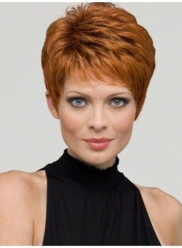 Delicate Short Straight Synthetic Wig