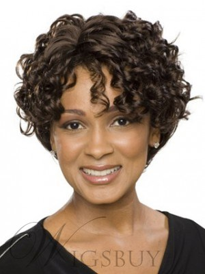 Rachel Tight Curly Short Lace Wig 100% Human Hair Makes You More Elegant