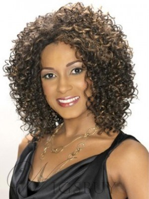The Exquisite Shoulder Length Small Curly Lace Front Wig 14 Inches For Shining Yourself