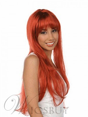 Long Silky Straight Bright Color Wig 24 Inches For Your Unique Taste