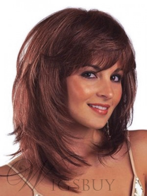 Athena Medium Length Synthetic Capless Wigs 14 Inches