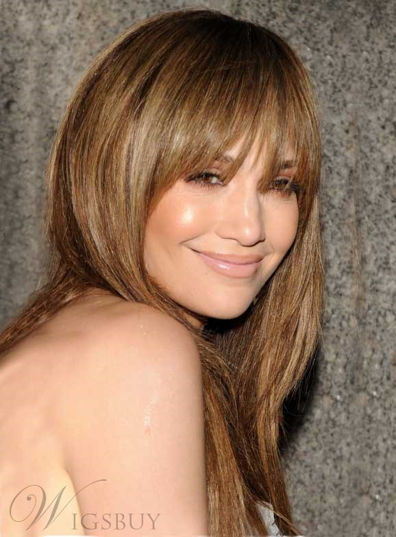 The Long Natural Straight Wig Jennifer Lopez Hairstyle 18 Inches 100% Human Hair