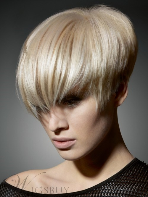 The Medium Short Straight Light Blonde Wig