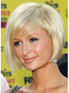 The Sweet Bob Hairstyle Platinum Blonde Wig 8 Inches For Sweetheart