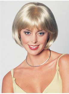 The Super Natural Bob Hairstyle Blonde Wig 8 InchesFor Being Your Beloved Style