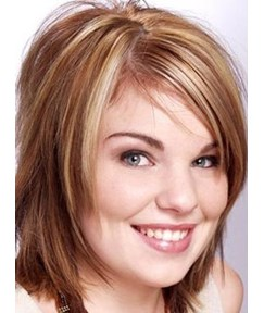 Cheap Custom New Hairstyle Mixed Color Straight Monofilament Top Wig 10 Inches