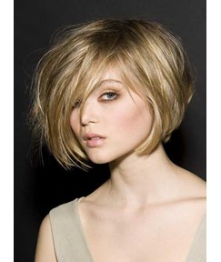 100% Human Hair The Trendsetting Fluffy Short Straight 10 Inches Full Lace Wig Cater For Your Pursue