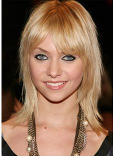 The Charming Shoulder Lenghth Gloden Blonde Wig 12 Inches
