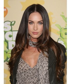 Megan Fox Hairstyles Natural Long Wavy 22 Inches 100% Human Hair Full Lace Wigs