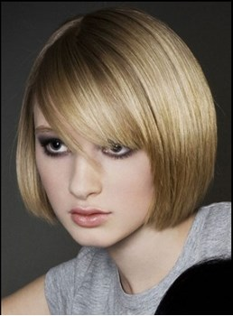 Popular Straight Medium Blonde Smooth Top Quality Newest Bob Hairstyle