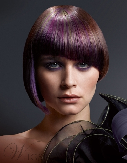 The Unique Bob Hairstyle Mixed Color Wig