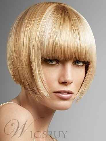 The Hot Sale Beutiful Gloden Blonde Bob Wig