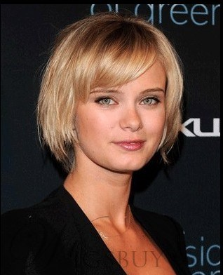Sara Paxton Human Hair Short Bob Capless 8 Inches Wigs