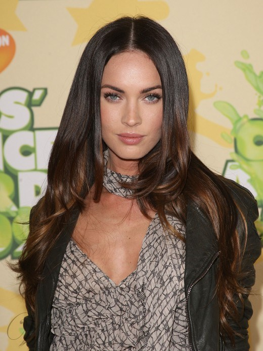 Fashionable Megan Fox Hairstyles Natural Long Wavy 22 Inches 100% Human Hair Full Lace Wig
