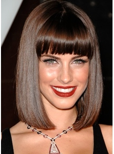 The Shining Bob Hairstyle Shoulder Length Lace Front Wig For Sexy Lady