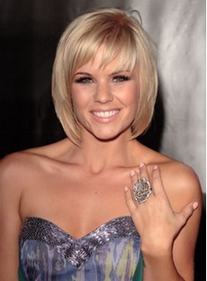 Hot Sale Boutique Hair Style Short Straight Golden Wig Designed For A Lady