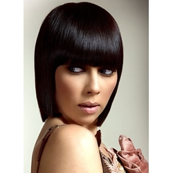 Blunt Cut Full Bang Synthetic Capless Women Wigs