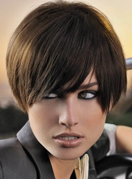 100% Human Remy Hair The Stylish Short Hairstyle Cater For The Office Lady 's Hair Pursue