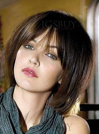 The Loose Bob Hairstyle Wig 100% Human Hair 10 Inches