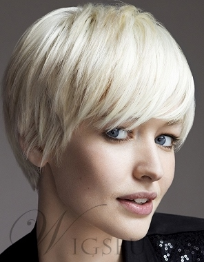 Graceful Carefree Hair Style Leading Summer Fashion Short Straight Chic Wig