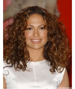 Custom 150% Heavy Hair Density Celebrity Jennifer Lopez Long Curly Full Lace Wig 16 Inches