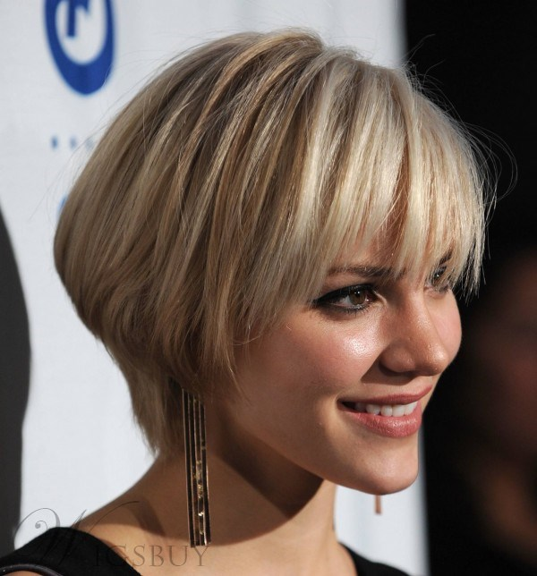 Top Sale Glamour Katharine Mcphee Hairstyle Short Straight Unique Wig 100% Human Hair
