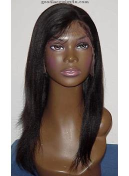Execellent Long Straight Hairstye Lace Front Wig 16 Inches 100% Human Hair