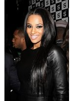 Ciara 100% Human Hair Super Sexual Loose Black Long Straight Full Lace Wig 22 Inches