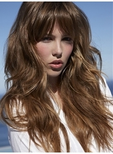 Long Smooth Wave Brown Wig 20 Inches Specially for Sandy Beach
