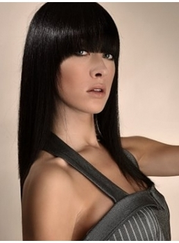 Polished Hairstyle Long Silky Smooth Straight Natural Black Wig 14 Inches Brings You Graceful Feeling