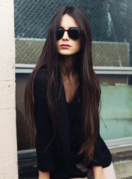 100% Human Hair Soft Long Straight Lace Front Wig 26 Inches Shows Your Perfect Nature