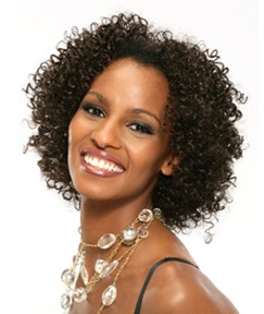 Carefree Hairstyle Short Typical African American Curly Brown Full Lace Wig 14 Inches 100% Human Hair