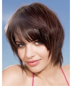 Premier Hairstyle Super Cheap Short Silky Straight Brown Wig With Specially Designed Layer Makes You More Charming