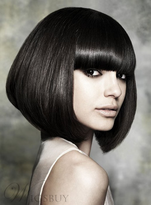 Gorgeous Hair Styles Bob Short Silky Straight Natural Black Wig 12 Inches Makes You Fabulous 100% Human Hair