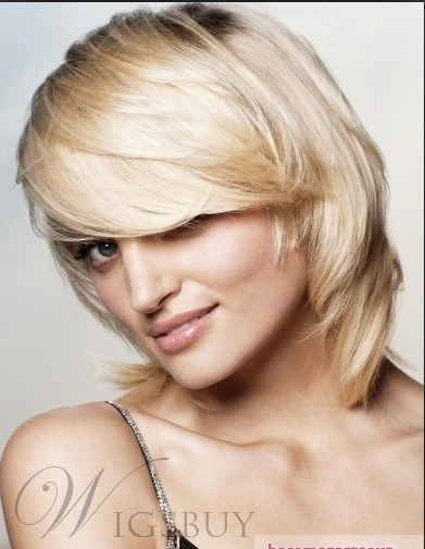 Super Cheap Dapper Short Smooth Straight Blonde Wig