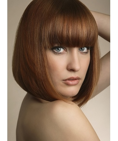 Fashionable Bob Hairstyle Medium Silky Straight Wig 10 Inches Makes You More Popular 100% Human Hair